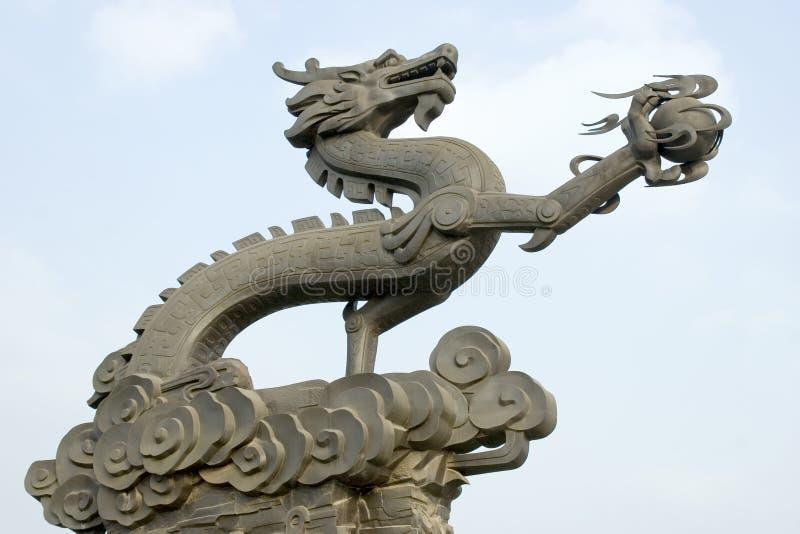 Sculpture en dragon photographie stock libre de droits