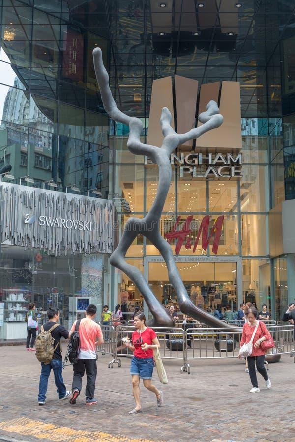 Sculpture en endroit de Langham images libres de droits