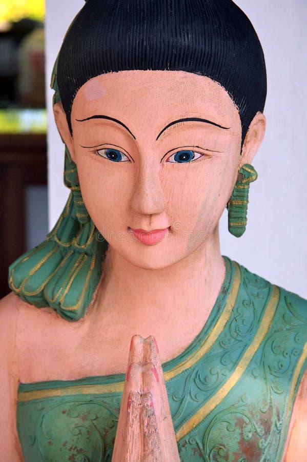 Sculpture en femme - Thaïlande photographie stock