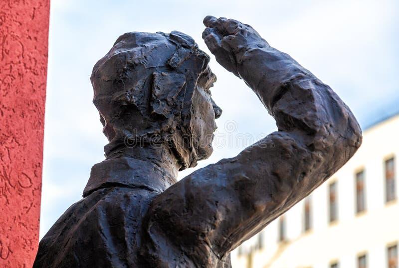 Sculpture en fragment du soldat de l'arm?e rouge photos libres de droits