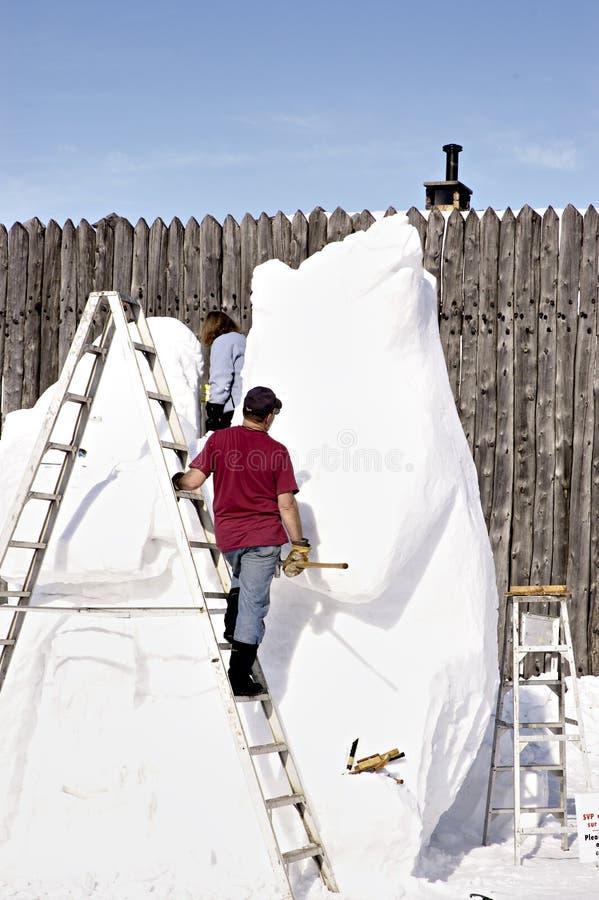 Download Sculpture en glace photo stock. Image du découpez, hiver - 72448