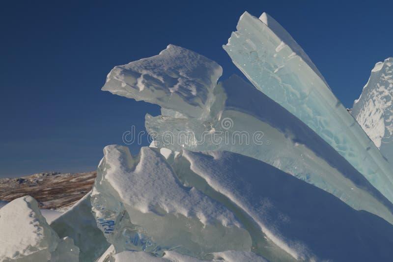 Sculpture en glace chez Russell Glacier photo stock