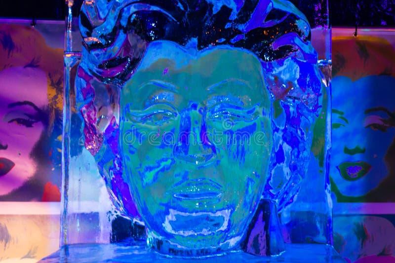 Sculpture en glace de Marilyn Monroe photo libre de droits