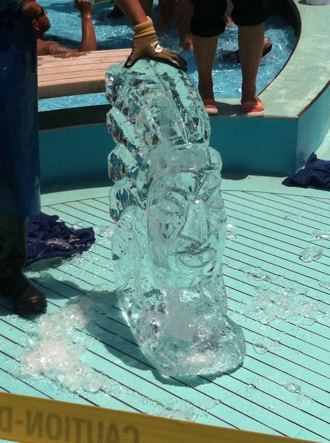 Sculpture en glace indienne images libres de droits