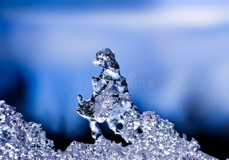 Sculpture en glace normale images stock