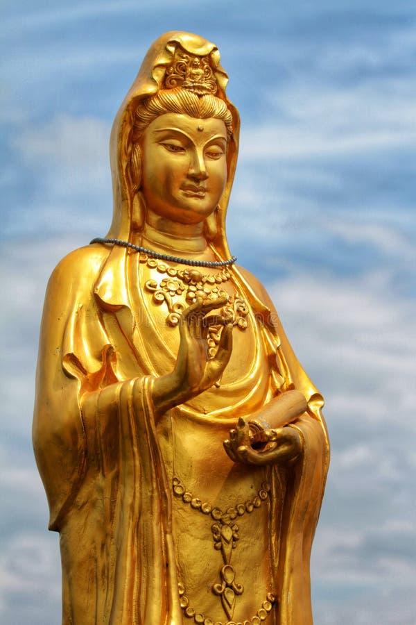 Sculpture en Guanyin image libre de droits