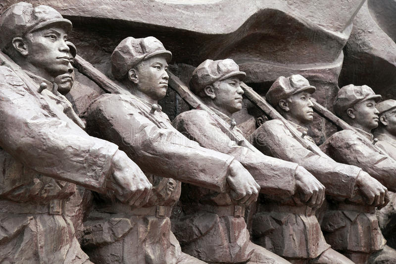 Sculpture en Guerre de Corée photos libres de droits