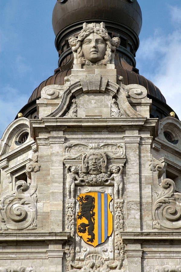 Download Sculpture En Hôtel De Ville De Leipzig Photo stock - Image du hall, pierre: 735482