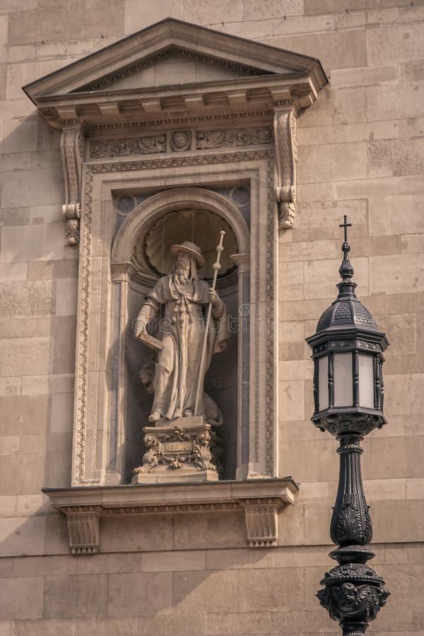 Sculpture en Hieronymus de saint photo stock