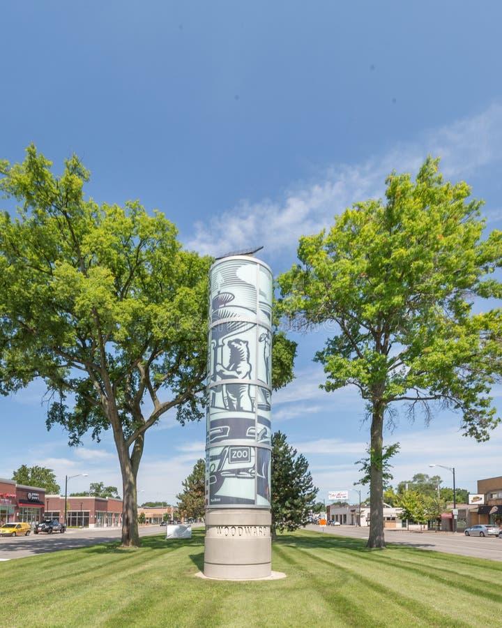 Sculpture en hommage d'avenue de Woodward, croisière de rêve de Woodward, Fernda photo stock