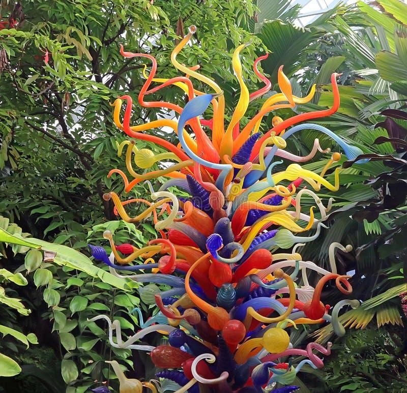 Sculpture en jardin de Chihuly photos libres de droits