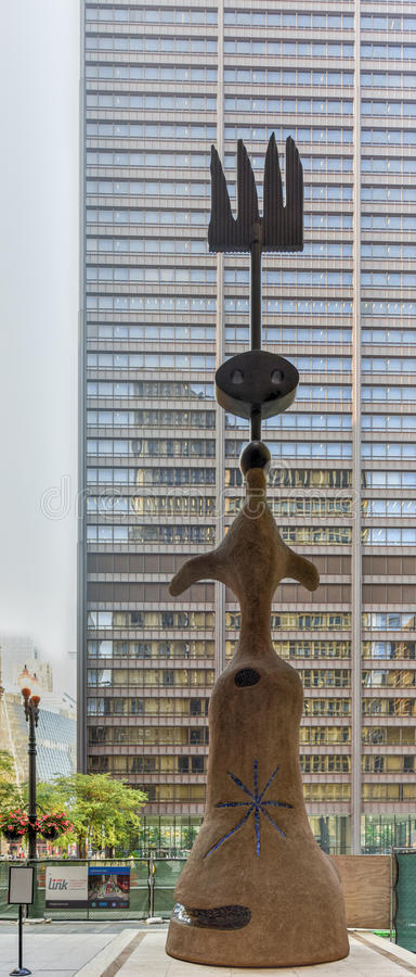 Sculpture en Joan Miro - en Chicago photographie stock libre de droits