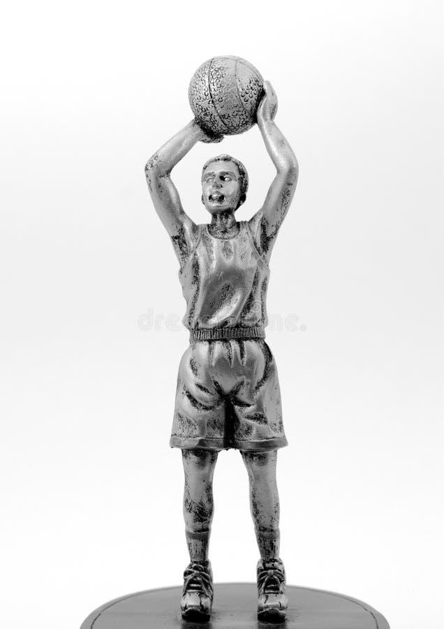 sculpture en joueur de basket image libre de droits