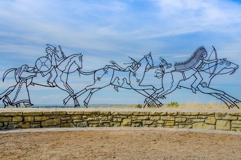 Sculpture en mémorial de Little Bighorn photo libre de droits