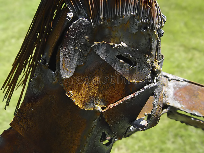 Sculpture en métal images libres de droits