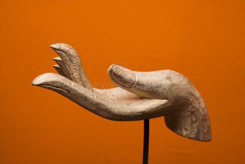 Sculpture en main. photographie stock