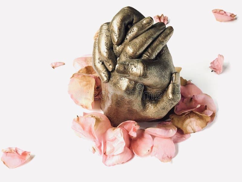 Sculpture en main d'amant photo libre de droits