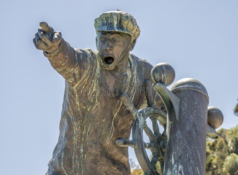 Sculpture en marin en Nelson New la zélande images libres de droits