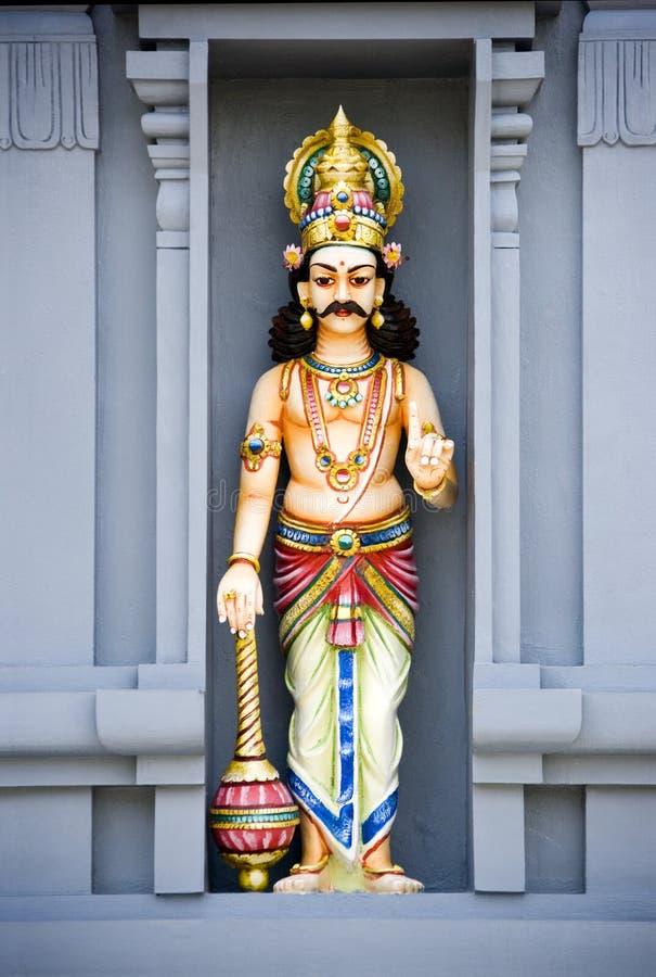 Sculpture en pierre de temple indou image libre de droits