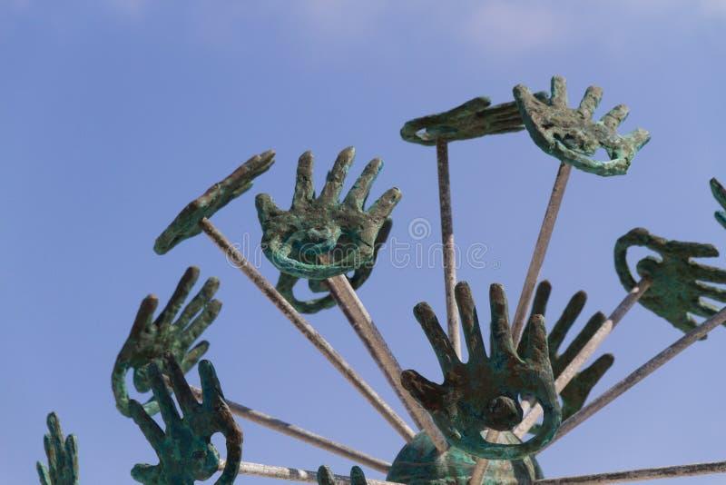 Sculpture en Puerto Morelos images libres de droits