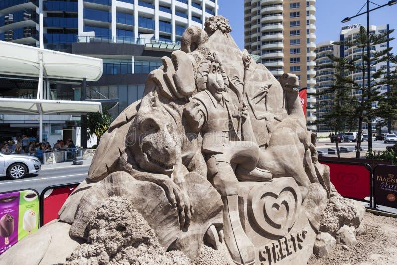 Sculpture en sable image stock