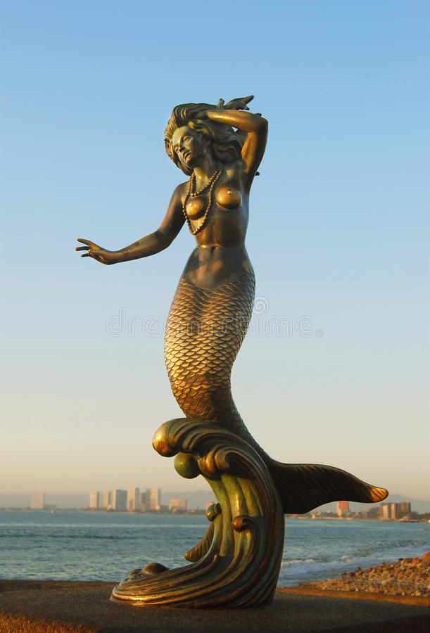 Sculpture en sirène photo stock