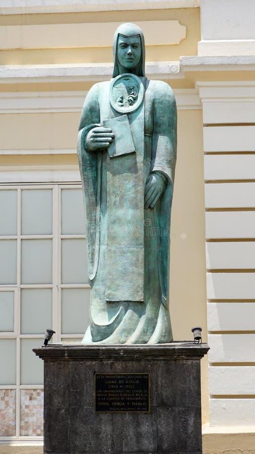 Sculpture en SOR Juana Ines de la Cruz photos stock