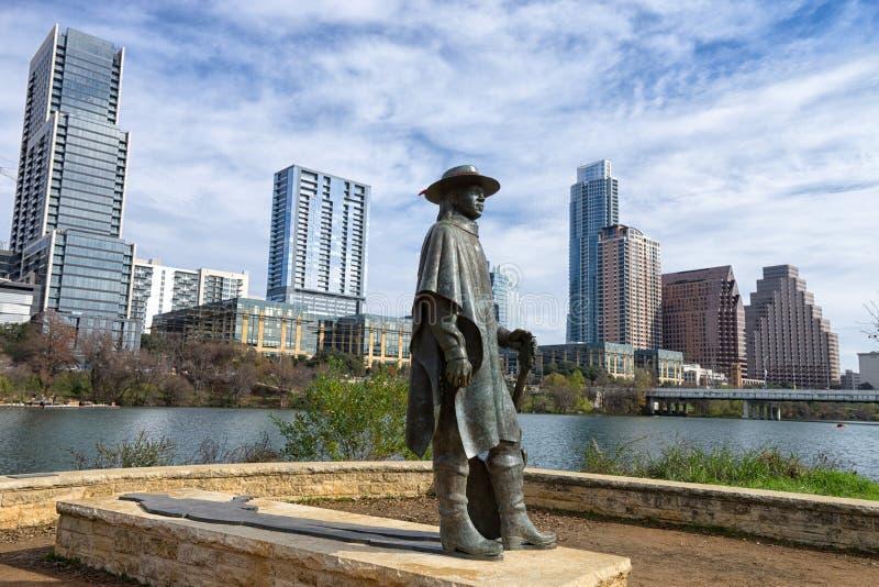 Sculpture en Stevie Ray Vaughan images libres de droits