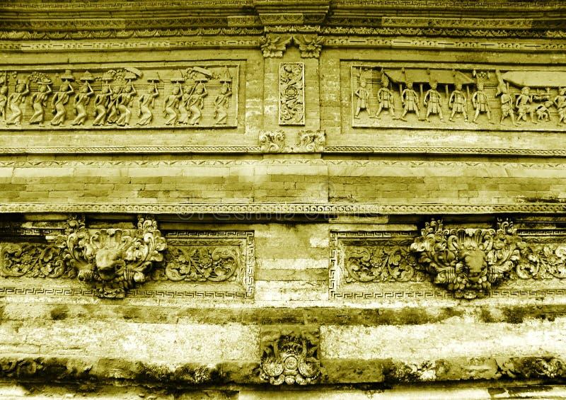 Sculpture en temple de Bali image stock