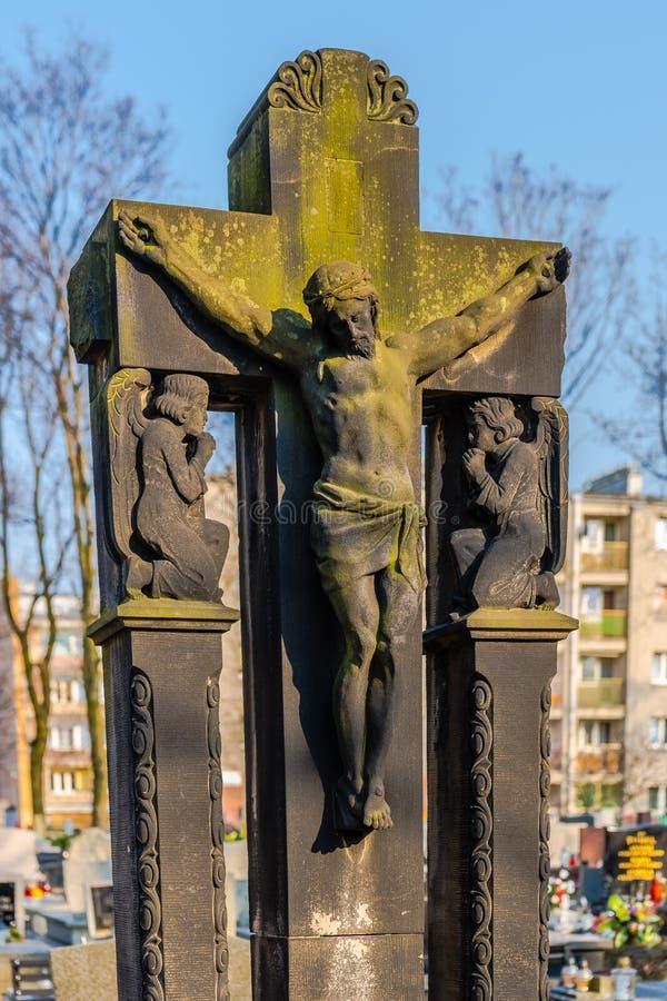 Sculpture en tombe photo libre de droits
