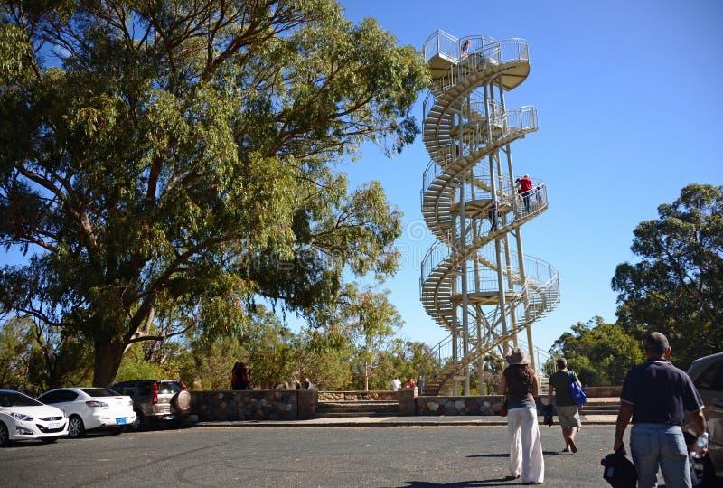 Sculpture en tour d'ADN à Perth photographie stock
