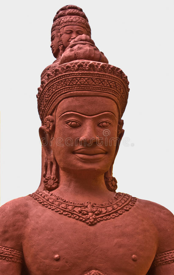 Sculpture en type d'Angkor images stock