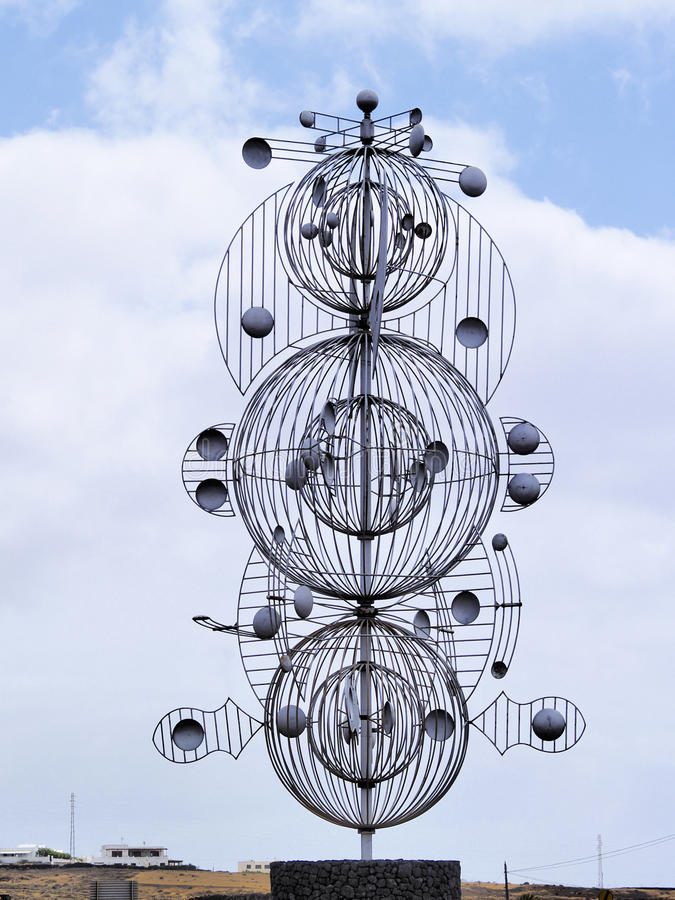 Sculpture en vent images stock