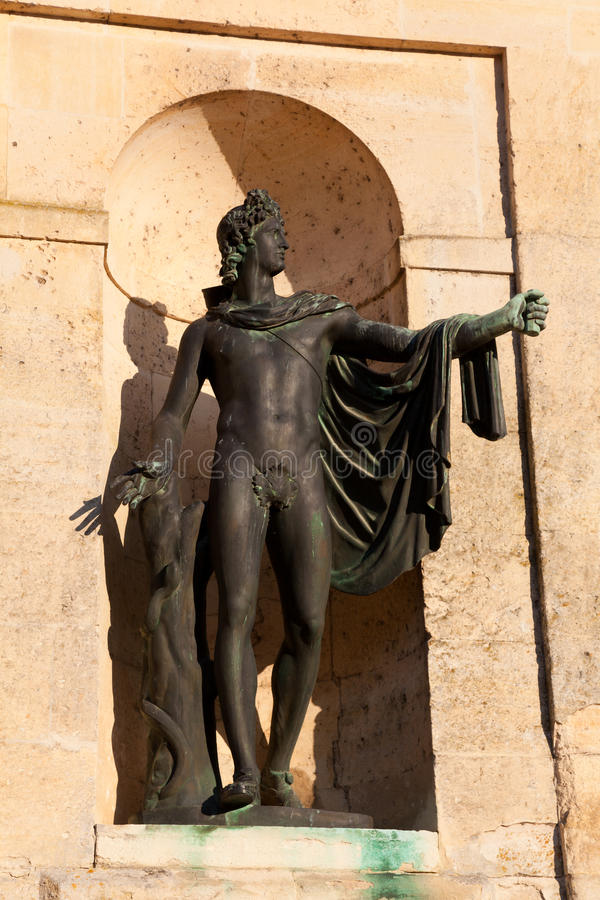 Sculpture In The Fontainebleau Castle Stock Image