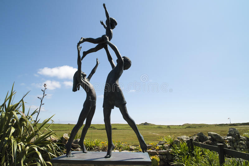Sculpture Garden Scilly Islands royalty free stock photography