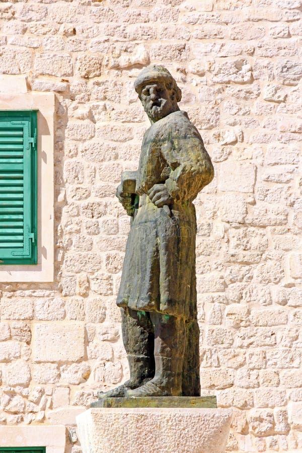Sculpture of Giorgio da Sebenico. Venetian sculptor who worked mainly in Sibenik stock images