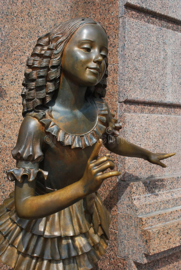 Sculpture of a girl from a fairy tale royalty free stock photos