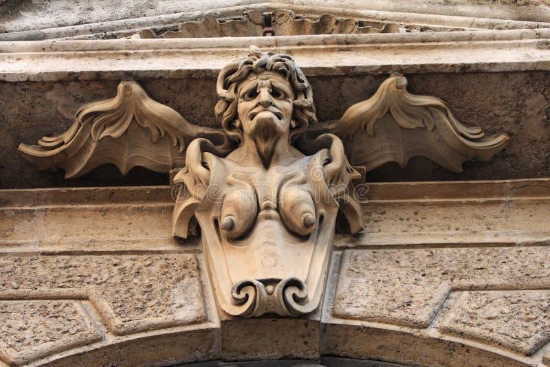 Sculpture gothique en mémé de méduse image libre de droits