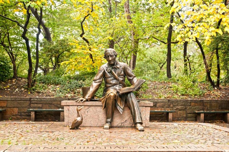Sculpture of Hans Christian Andersen New York City royalty free stock photo