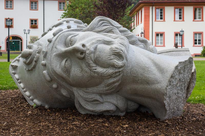 Sculpture of the head of beheaded St. Blaise in St. Blasien, Germany. Sculpture of the head of beheaded St. Blaise in St. Blasien, Black Forest, Germany stock image