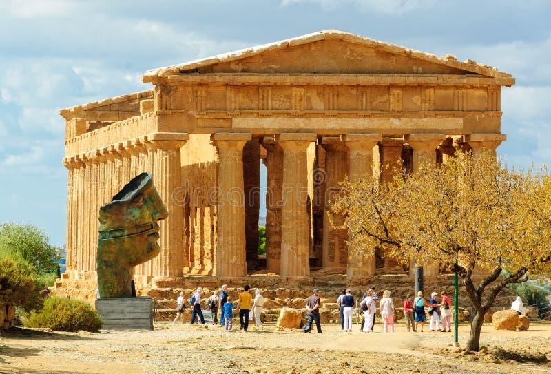 Temple of Concordia - Agrigento royalty free stock photo