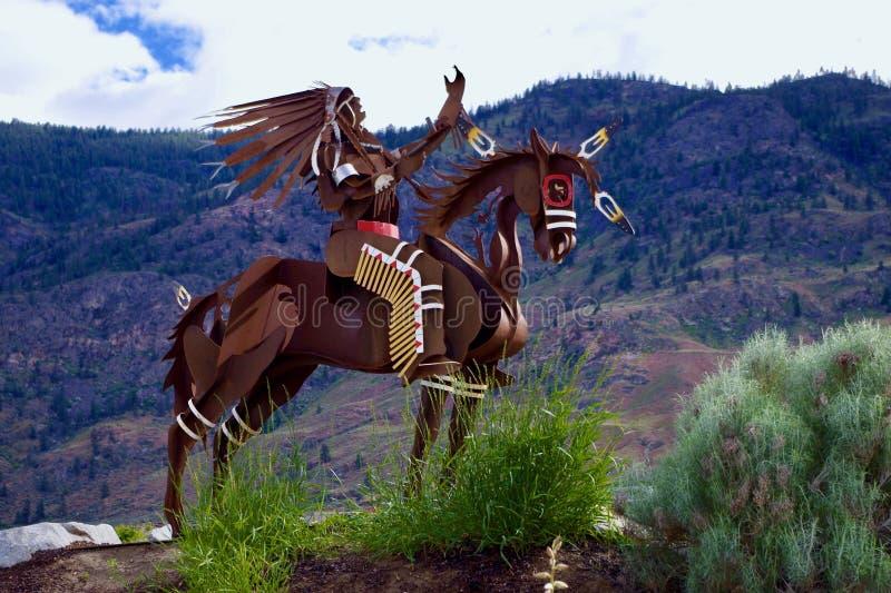 Sculpture indigène au lac Osoyoos, Colombie-Britannique, Canada photos libres de droits