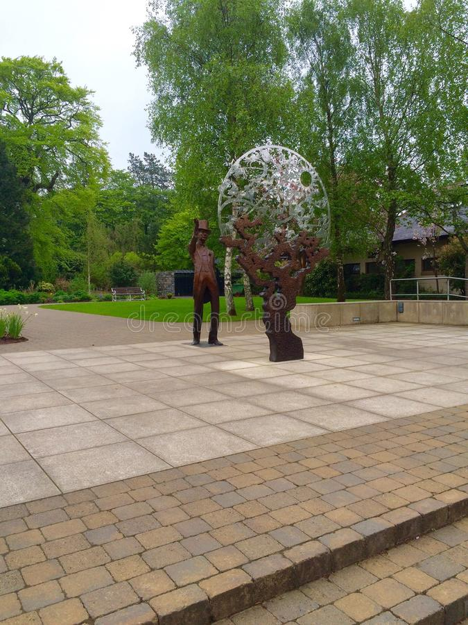 Sculpture in Irish National Stud royalty free stock photography