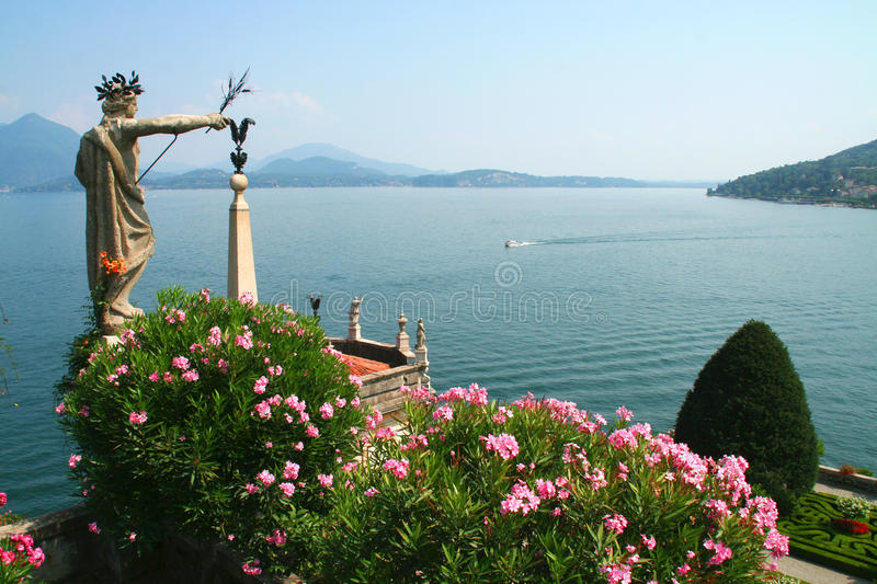 Sculpture at Isola Bella royalty free stock photography