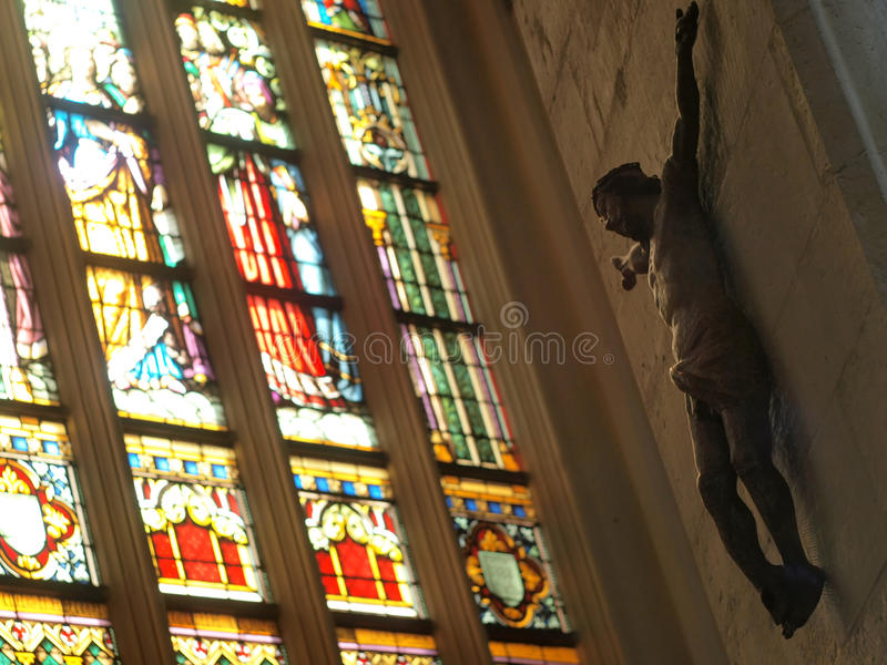 Sculpture of Jesus stock photography
