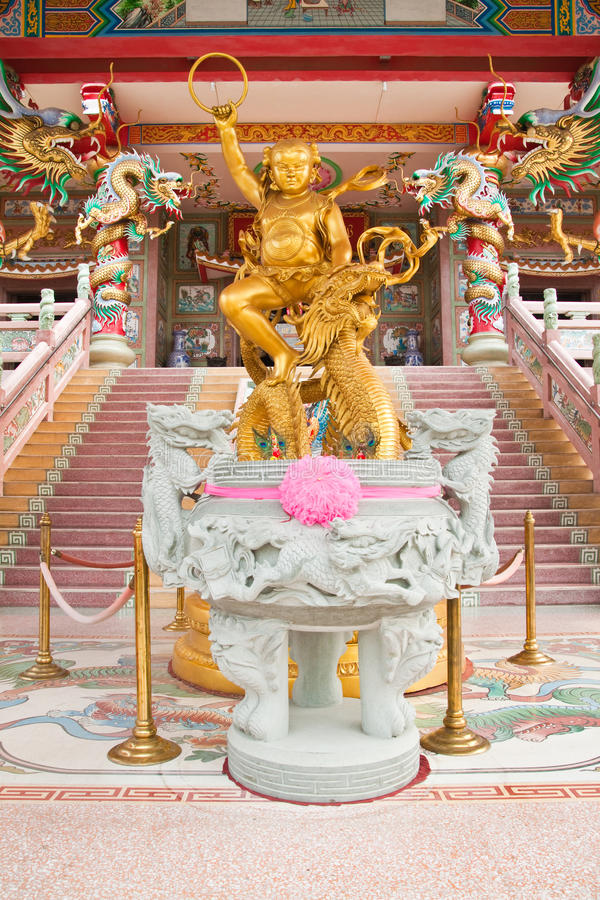 Sculpture Of Kid Naja In Chinese Temple Royalty Free Stock Image