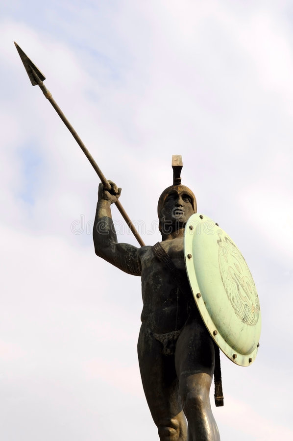 The sculpture of King Leonidas stock image