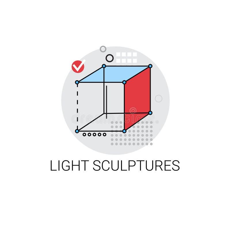 Sculpture légère Art Icon moderne illustration de vecteur