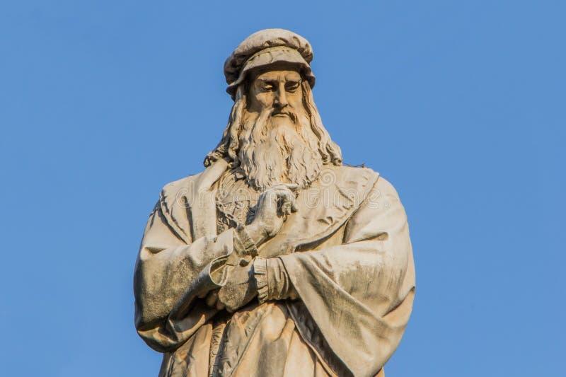 Sculpture of Leonardo Da Vinci stock image