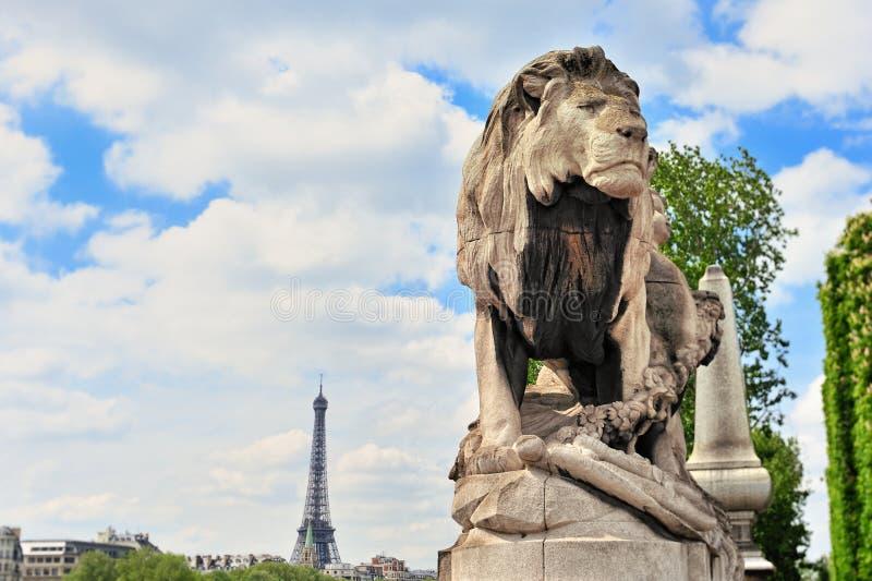Download Sculpture Lion stock photo. Image of city, eiffel, paris - 23811306